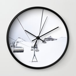 Skiing lift Wall Clock