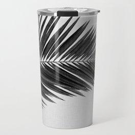 Palm Leaf Black & White I Travel Mug