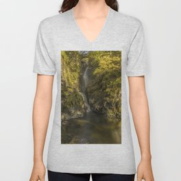 Cumbrian Waterfall. Unisex V-Neck