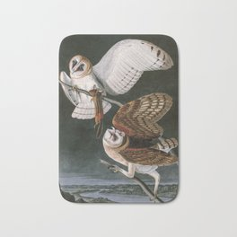 Barn Owls, the Birds of America by John James Audubon Bath Mat
