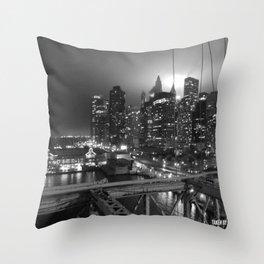 NYC Lights Throw Pillow