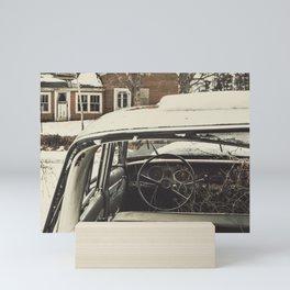 Vintage Family Sedan Mini Art Print