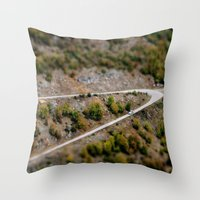 road Throw Pillows featuring Road by PhotoStories