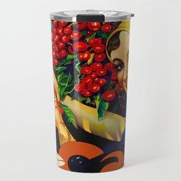 Vintage Brazil Coffee Ad Travel Mug