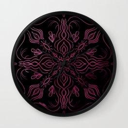 Roes Pink Kaleidoscope  Wall Clock