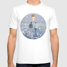 Bill & Nick's Ice Cream Adventure! Mens Fitted Tee White SMALL