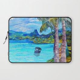 Tardis on the Beach Laptop Sleeve