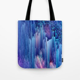 Beglitched Waterfall - Abstract Pixel Art Tote Bag