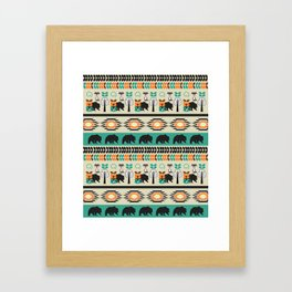 Native spirit with foxes and bears Framed Art Print
