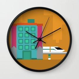 Goldenrod City Wall Clock