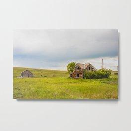 Roadside Homestead, North Dakota 1 Metal Print