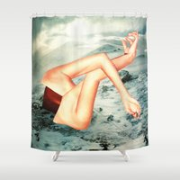 camp Shower Curtains featuring Camp by Erin Case