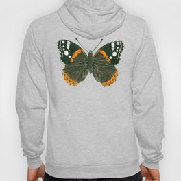 Admiral butterfly ink illustration Hoody