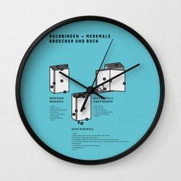 Buchbinden – Merkmale Broschur und Buch (in German) Wall Clock