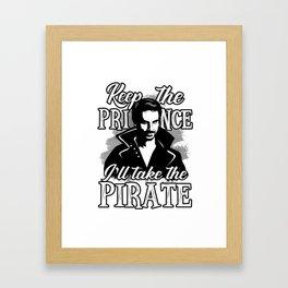 I'll take the pirate! Framed Art Print