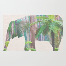 The Lonely Elephant Rug