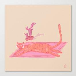 Beach tiger Canvas Print