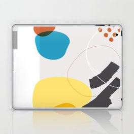 Shape & Hue Series No. 1 – Yellow, Orange & Blue Modern Abstract Laptop & iPad Skin