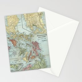 Vintage Map of The Philippines (1898) Stationery Cards