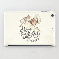 chef iPad Cases featuring CHEF by Mike Koubou