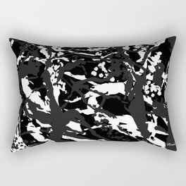 B L A C K  M A R B L E Rectangular Pillow