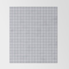 Mauve Blue Grid Checks II Throw Blanket