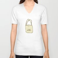 totes V-neck T-shirts featuring Totes Adorbs! by Sophie Corrigan