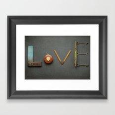 LOVE Vintage Tools Framed Art Print