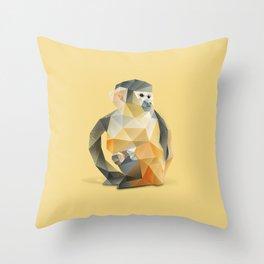 Spider Monkey. Throw Pillow