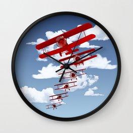 Retro Biplanes Wall Clock
