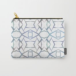 Abstract Blue & White Design small Carry-All Pouch