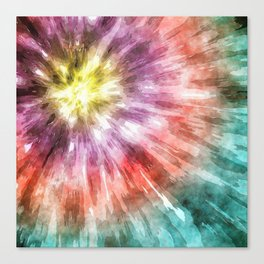 Color Filled Tie Dye Canvas Print