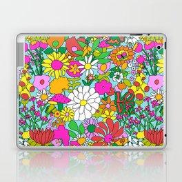 60's Groovy Garden in Blue Laptop & iPad Skin