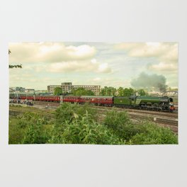 Flying Scotsman at Bristol Temple Meads Rug