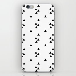 Floating triangles iPhone Skin