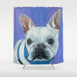 French Bulldog Portrait Painting Shower Curtain
