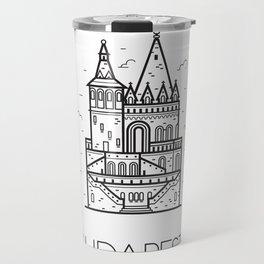Budapest Hungary Black and White Travel Mug