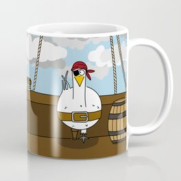 Eglantine la Poule (the hen) dressed up as a pirate Coffee Mug
