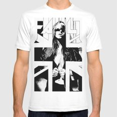 FAULT White MEDIUM Mens Fitted Tee