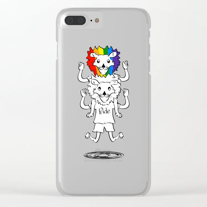 Gay Pride Lions Clear iPhone Case