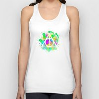 deathly hallows Tank Tops featuring The Deathly Hallows by Christina
