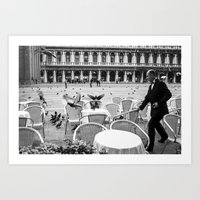 Waiting is a trying job - Venice Art Print