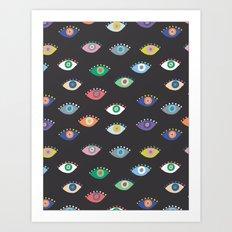Eyez (Black) Art Print