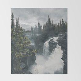 Athabasca Falls Alberta Throw Blanket