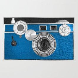 Dazzel blue Retro camera Rug