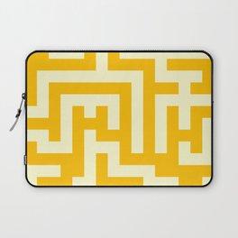 Cream Yellow and Amber Orange Labyrinth Laptop Sleeve