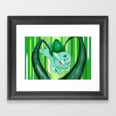 Grass Pocket Monster - 001 Framed Art Print