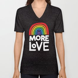 more love Unisex V-Neck