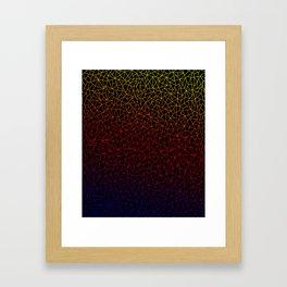 Gradient on Lowpoly Framed Art Print