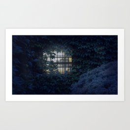 Ivy Covered House Art Print